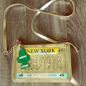 Betsy Johnson license plate bag